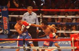 世界拳王曼尼·帕奎奥于澳门拳赛获胜