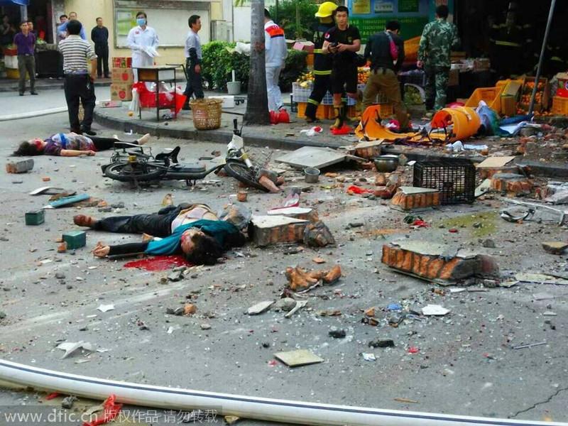 厦门美湖路发生煤气爆炸 已造成4人死亡