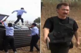 安徽打鸟嫌犯手持双枪吓退民警
