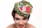 艺术家打造美食帽饰