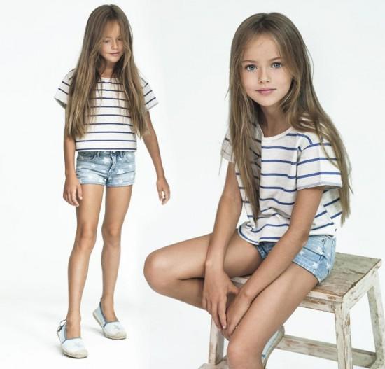罗斯9岁女孩成国际超模 被誉为全球最美少女