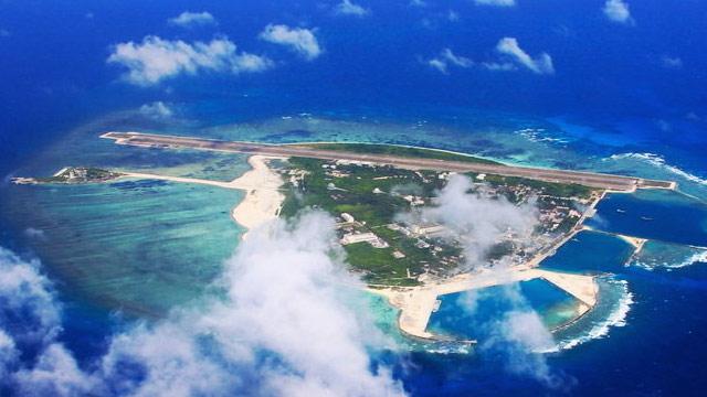 航拍中国在南海西沙所建机场 驻军部队曝光