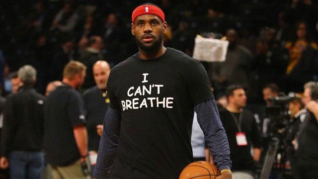 NBA众球星支持反种族歧视:我无法呼吸!