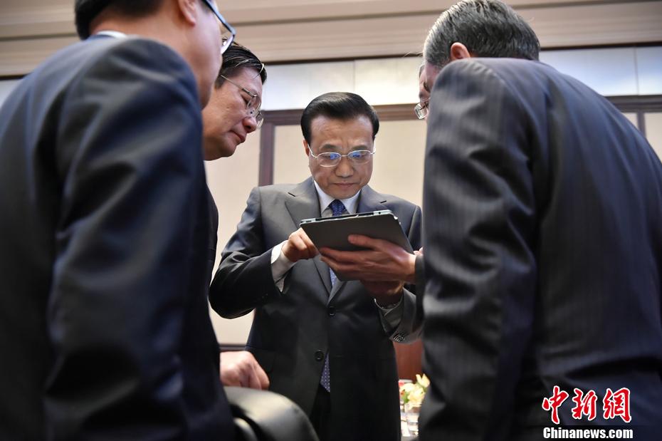 李克强参加外访会议一幕