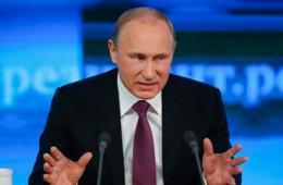 普京召开2014年度记者会谈稳定经济