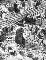 荷画家凭记忆画细腻城市俯瞰图