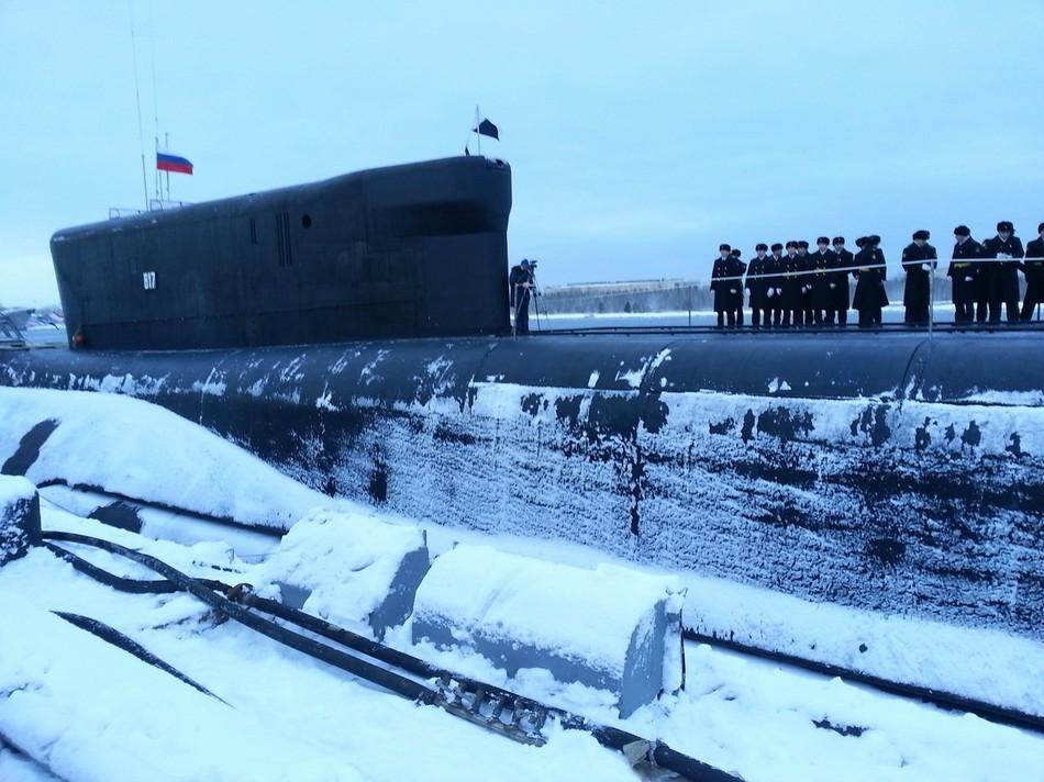 俄服役第3艘北风之神潜艇