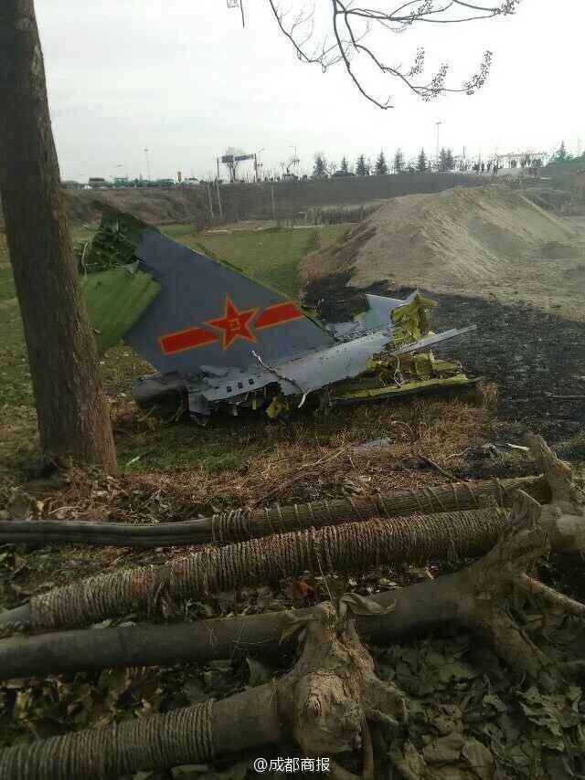 1架军用飞机在陕西渭南坠毁