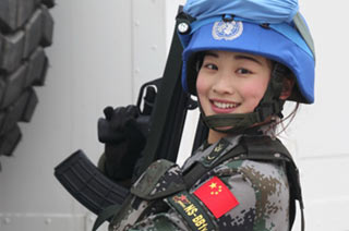 中国首次派女兵班参加维和