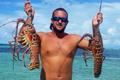 在巴哈马群岛钓大龙虾
