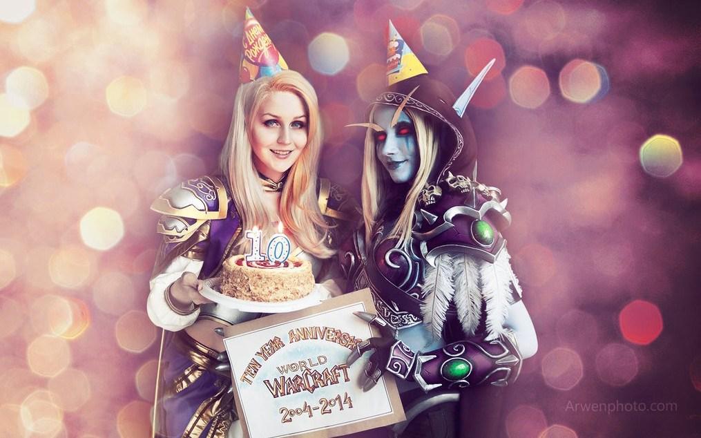魔兽世界外服美女玩家两大女王COS