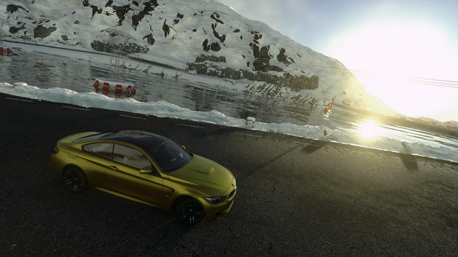 确定玩的是一个游戏?《驾驶俱乐部》惊爆雪天截图