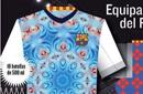 巴萨16-17赛季球衣流出 万花筒设计令球迷难接受