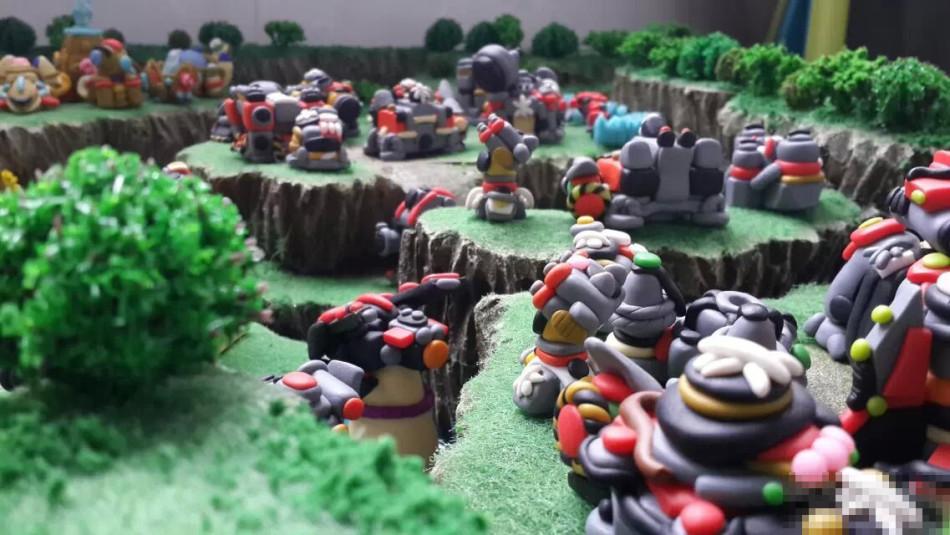国内高玩历时2年自制软陶星际2模型全家福