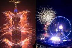 全球各地跨年烟火秀迎新年