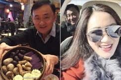 泰前总理他信与家人在北京农家乐过新年
