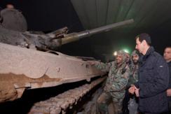 叙利亚总统新年前夕慰问前线士兵