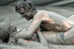 韩国海边激情泥浆派对
