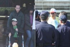 陈水扁保外就医出狱 反扁民众狱前抗议