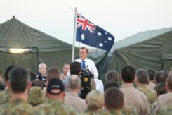 澳大利亚总理访问澳空军驻伊拉克总部