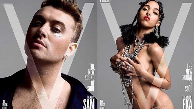 FKA双手捧胸几近全裸 衬托百万唱片销量歌手萨姆