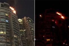 上海静安一高层住宅火灾 已致1人死亡