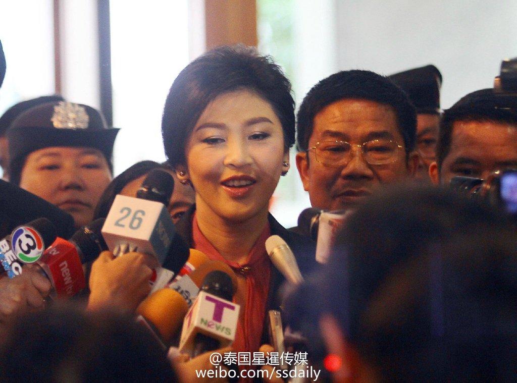 泰国首相英拉简介_泰国举行弹劾英拉听证会 前总理英拉到达现场_国际新闻_环球网
