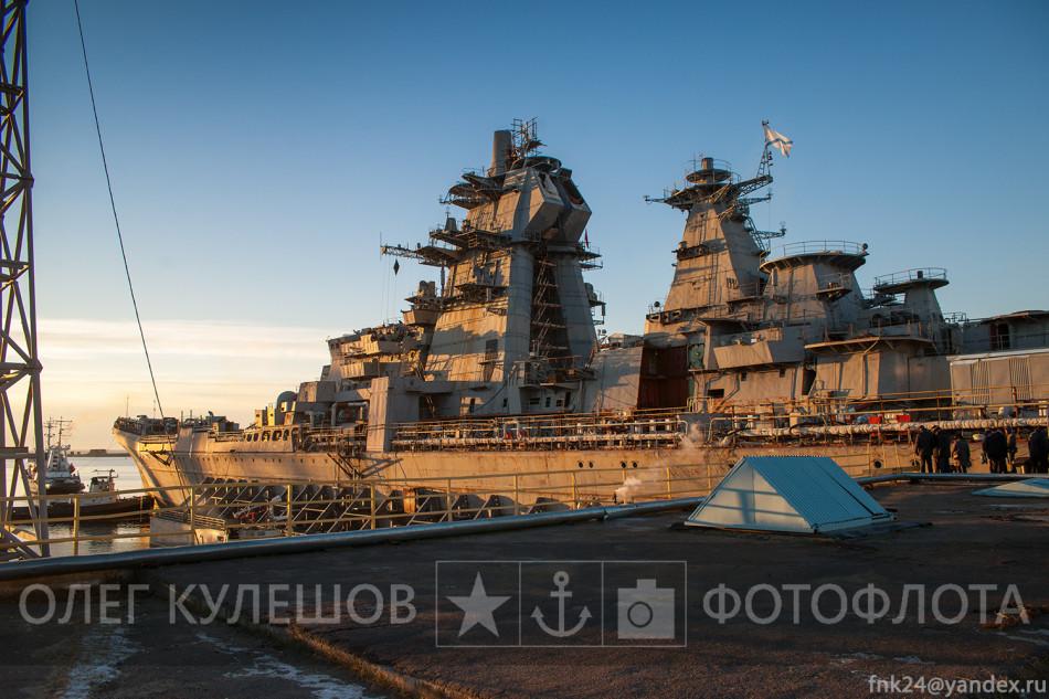 基洛夫巡洋进坞改装再服役(10/11)