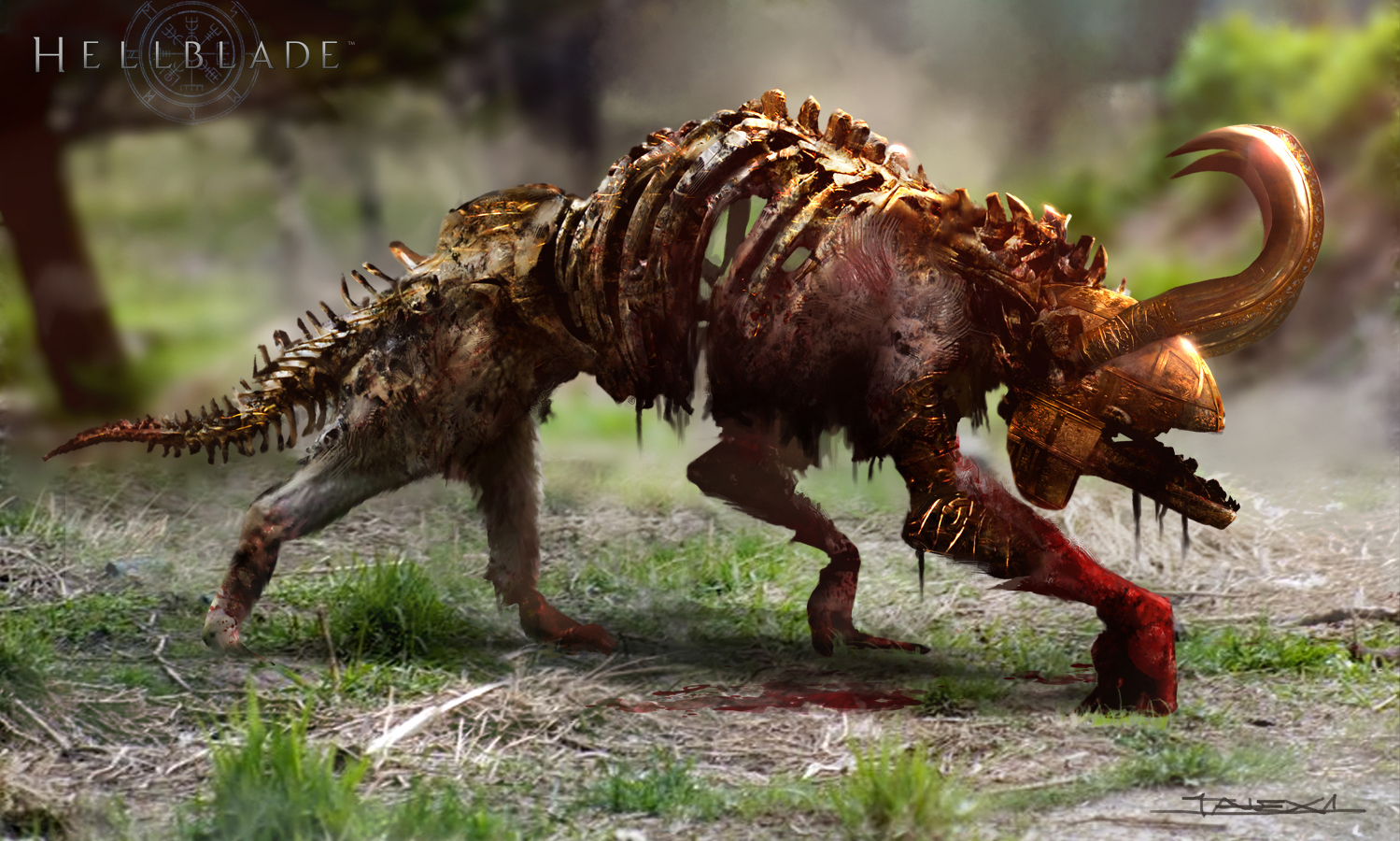 《地狱之刃》确认登陆PC 再曝一批精美艺术概念画