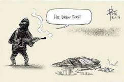 全球漫画家通过画笔怒斥法国杂志社遇袭