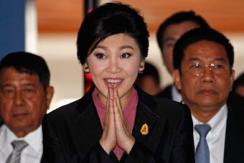泰国举行弹劾英拉听证会 英拉到达现场
