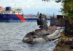 """昔日""""红海军""""试验潜艇在乌变废铁"""