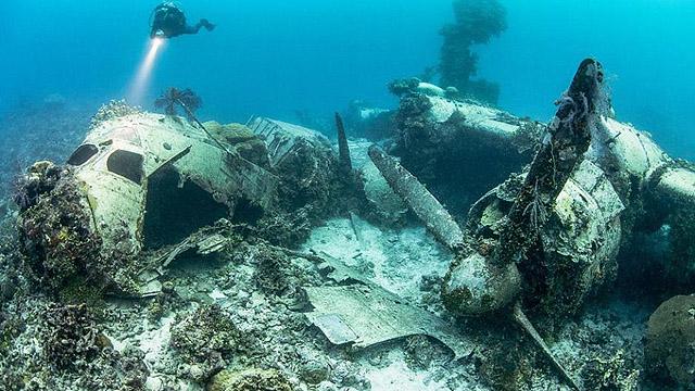 二战日军数十艘战舰沉睡西太海底