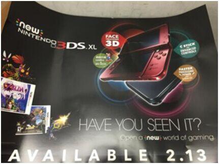 任天堂新版3DS发布日期泄露 2月13日登陆北美