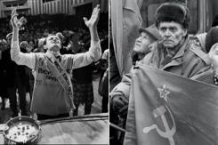 俄媒发布老照片:在1992年莫斯科漫步
