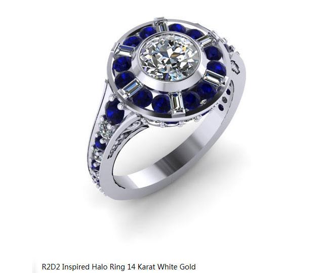 珠宝设计师制作魔兽主题戒指