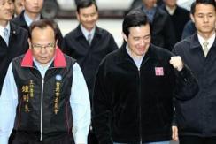 国民党主席补选 马英九为朱立伦加油