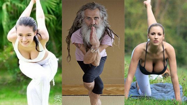 男教练引女王妹妹拜师塑臀 盘点最性感瑜伽教练