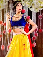 """加公司推出9款""""迪斯尼印度新娘""""主题婚纱"""