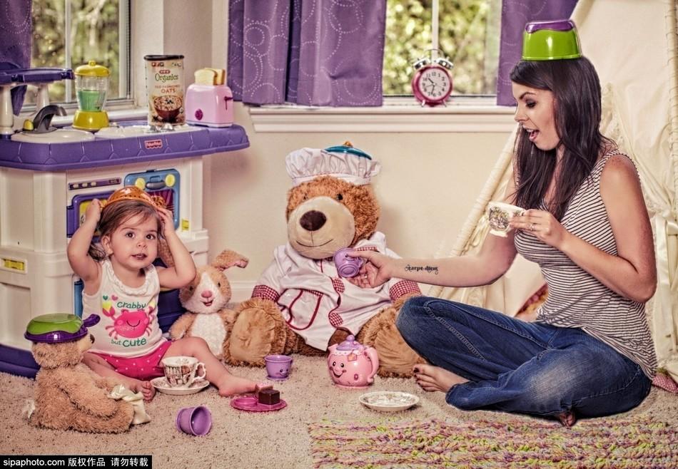 家中有熊娃:母亲拍摄幼女混乱家中趣事