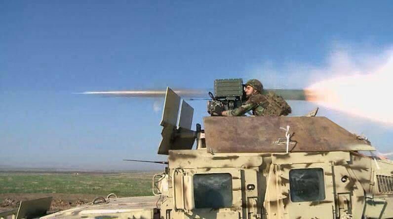 外军把中国红箭8装到悍马车上