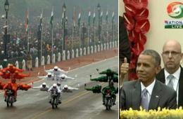 奥巴马观看印度阅兵连连称赞