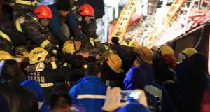 哈尔滨仓库起火坍塌 5名消防员牺牲