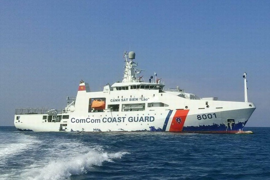 越南最大海警船没开多久掉漆?
