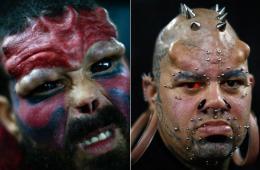"""委内瑞拉纹身博览会:""""吸血鬼""""""""红骷髅""""宛如惊悚大片"""