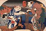 日本以猫代人创作浮世绘