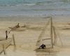 原来在沙滩也可以这么玩,3D沙滩绘画