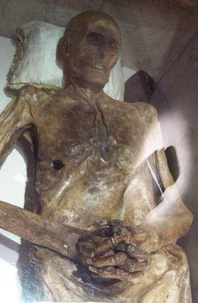 这是埃及法老王拉美西斯二世的遗体.它被认为是世界上保存最完好的图片