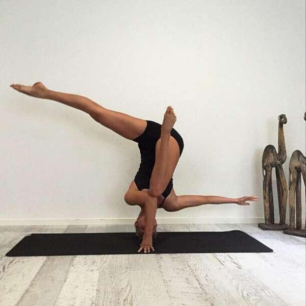 盘点各国瑜伽美女 咱们一起练吧