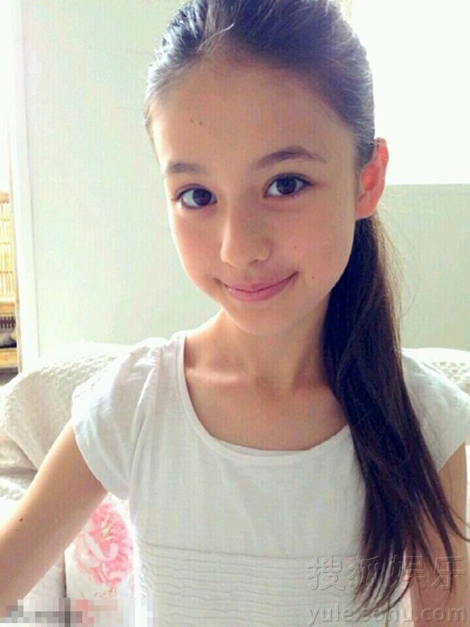 日本12岁小萝莉_13岁日俄混血小萝莉走红 神似Angelababy_博览_环球网